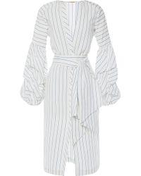 Johanna Ortiz   Linen Striped Juliet Wrap Front Tunic   Lyst