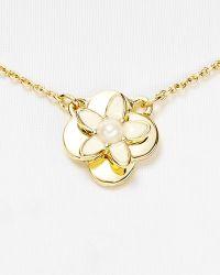 Kate Spade Window Seat Bouquet Mini Pendant Necklace 16 - Lyst