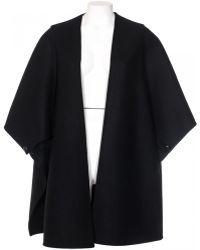 Valentino Cappa In Lana Vergine Nera black - Lyst
