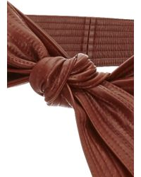TOME Whiskey Leather Karate Belt - Brown