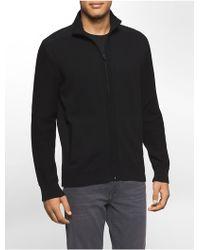 Calvin Klein | Jeans Garment Dye Sateen Zip Front Jacket | Lyst