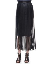 Elie Tahari - Jules Leather Fringe Belt - Lyst