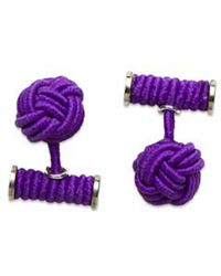 Hook + Albert - Hook + Albert Elastic Knotted Cufflinks - Lyst