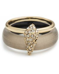 Alexis Bittar Crystal Encrusted Movable Band Ring gold - Lyst