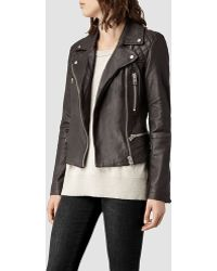 AllSaints Bleeker Leather Biker Jacket - Lyst