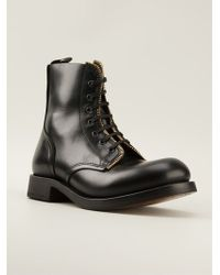 Alexander McQueen Zipped Trim Combat Boots - Lyst