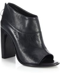 Rag & Bone Liam Open-Toe Leather Booties - Lyst