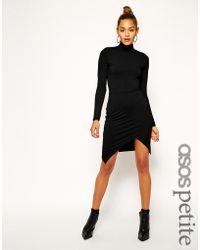 Asos Asymmetric Polo Body-conscious Dress - Lyst