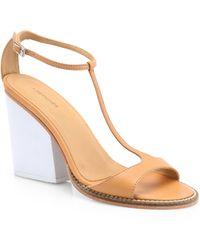 A Detacher - Anning Leather Tstrap Sandals - Lyst