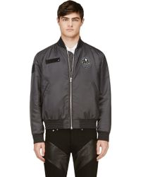 Givenchy Grey Tribal Patch Bomber Jacket - Lyst