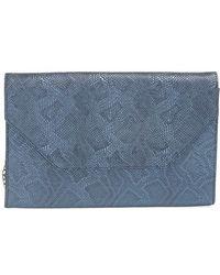 Halogen | Embossed Leather Envelope Clutch | Lyst