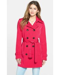Calvin Klein Double-Breasted Trench Coat - Lyst
