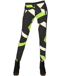 Didier Parakian - Printed Stretch Jersey Trousers - Lyst