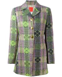 Christian Lacroix 'bazar' Woven Coat - Green