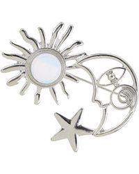 TOPSHOP - Moon Sun Brooch - Lyst