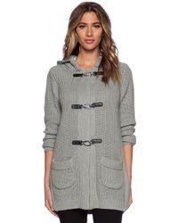525 America Duffle Sweater Coat - Gray