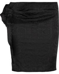 Isabel Marant Kristy Ruffled Silk-Jacquard Mini Skirt - Lyst