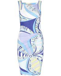 Emilio Pucci Printed Stretch-Silk Dress - Lyst