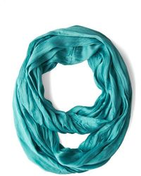 Look By M Brighten Up Circle Scarf in Aquamarine - Lyst