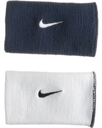 Nike Dri-fit Home and Away Doublewide Wristband - Lyst