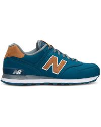 New Balance | blue Men's 574 Lux Casual Sneakers From Finish Line | Lyst