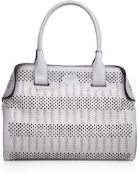 Tod's | Cape Small Studded Laser-cut Leather Satchel | Lyst