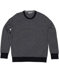Vince Luxe Striped Sweater - Lyst