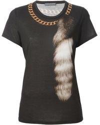 Alexander McQueen Black T Shirt - Lyst