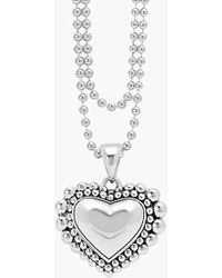 Lagos Long Heart Pendant Necklace - Lyst
