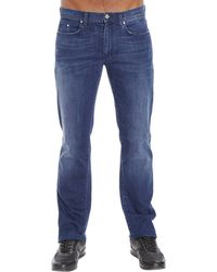 Versace Jeans Denim Used Stretch blue - Lyst