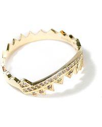 Ara Vartanian Serrated Brown Diamond Ring gold - Lyst