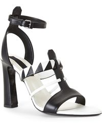 Proenza Schouler Two-Tone Leather Sandals - Lyst
