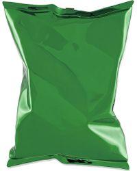 Anya Hindmarch Crisp Packet Metal Clutch Green - Lyst