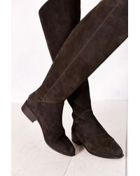 Dolce Vita Meris Back-zip Suede Tall Boot - Lyst