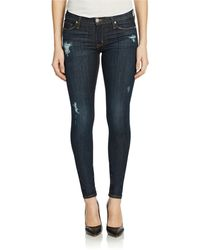 Hudson Nico Mid Rise Super Skinny Jeans - Lyst