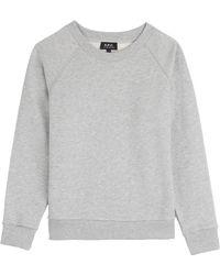 A.P.C. Jersey Sweatshirt - Lyst