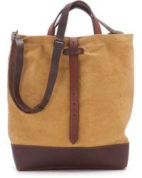 Carine Letessier 8463 Man Bag Satchel Saffron - Lyst