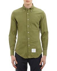 Thom Browne Twill Buttondown Shirt - Lyst