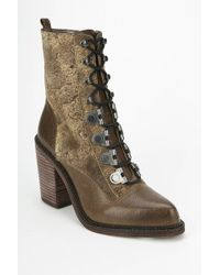 Luxury Rebel - Mara Lace-Up Heeled Boot - Lyst