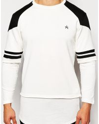 Antioch Sweatshirt With Double Layer Sleeves - White