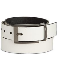 Alfani - Men's Cut-edge Saffiano-texture Reversible Belt - Lyst