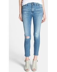 Citizens of Humanity Women'S 'Rocket' Destroyed Crop Skinny Jeans - Lyst