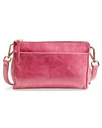 Hobo Women'S 'Angie' Leather Crossbody Bag - Pink - Lyst