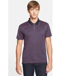 PS by Paul Smith Stripe Jersey Polo - Lyst