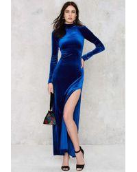 Nasty Gal | Zealot For Velvet Dress | Lyst