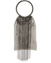 Whiting & Davis - Cascade Fringe Double Ring Clutch - Pewter - Lyst