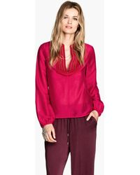 H&M Blouse in A Lyocell Blend - Lyst