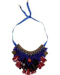 Matthew Williamson Necklace purple - Lyst