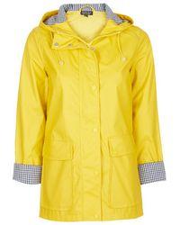 Topshop Yellow Plastic Rain Mac yellow - Lyst