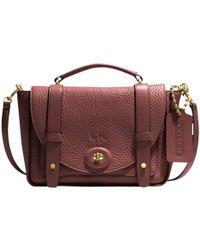 COACH - Bleecker Mini Leather Messenger Bag - Lyst